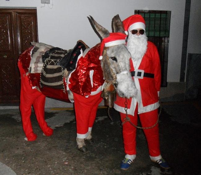 El Papá Noel más original de la comarca