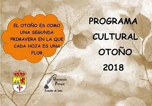 Programa `Cultural Otoño 2018´ en Fuentes de León (Programación Completa)