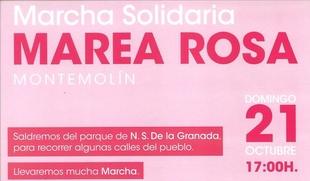 Anímate y colabora en la la Marcha Solidaria `Marea Rosa´ de Montemolín