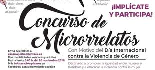 Concurso de Microrrelatos con motivo del Día Internacional contra la Violencia de Género