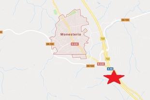 Un accidente a la altura de Monesterio eleva a nivel rojo el riesgo de circular por la A-66