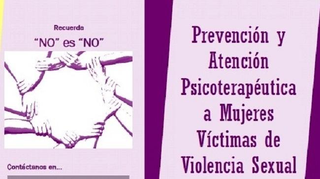 Conoce el Programa  de Prevención y Atención Psicoterapéutica a Mujeres Víctimas de Violencia Sexual