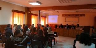 El director gerente del SEXPE, Juan Pedro León, destaca en Monesterio la apuesta de la Junta de Extremadura por las Escuelas Profesionales