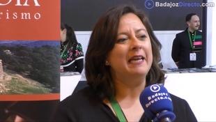 Entrevista a Mercedes Díaz, presidenta de la Mancomunidad de Tentudia, en FITUR 2019