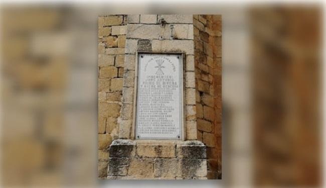 El Ministerio de Justicia avisa a varios municipios de la Comarca de que deben retirar sus vestigios franquistas