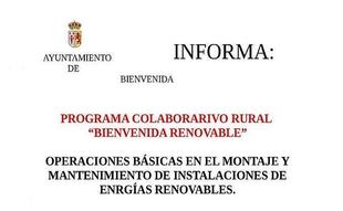 Bienvenida oferta un Programa sobre Energías Renovables