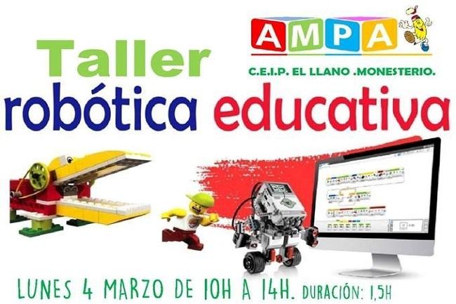 La A.M.P.A. del CEIP `El Llano´ de Monesterio organiza un Taller de Robótica Educativa
