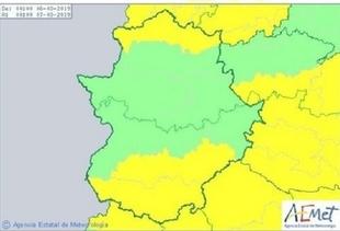 Alerta amarilla en el Sur de Badajoz por las fuertes rachas de viento