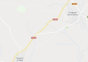 Accidente con herido grave en la N-435 a la altura de Fregenal de la Sierra
