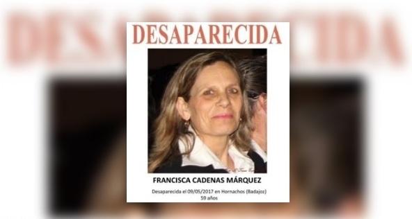 Familiares de Manuela Chavero intervendrá en la concentración de Francisca Cadenas, la mujer desaparecida en Hornachos