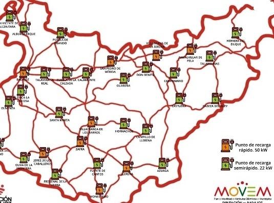 Monesterio, Fuente de Cantos y Fregenal contarán con puntos de recarga para vehículos eléctricos