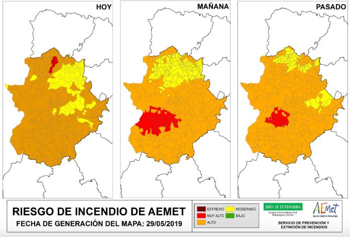 El INFOEX exige precaución a la ciudadanía en las actividades del campo ante los numerosos incendios