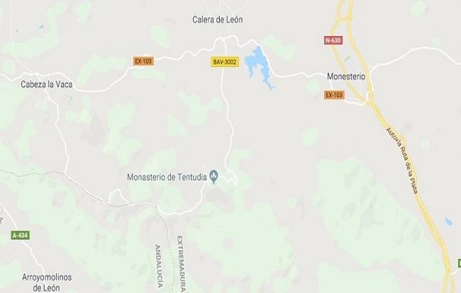 Fallece un varón de 46 años en Monesterio a causa de un accidente de tráfico