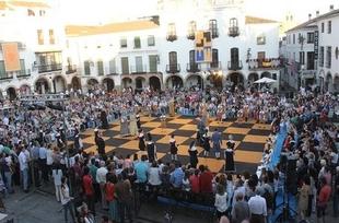 Zafra celebra este sábado una nueva edición de su Ajedrez Viviente