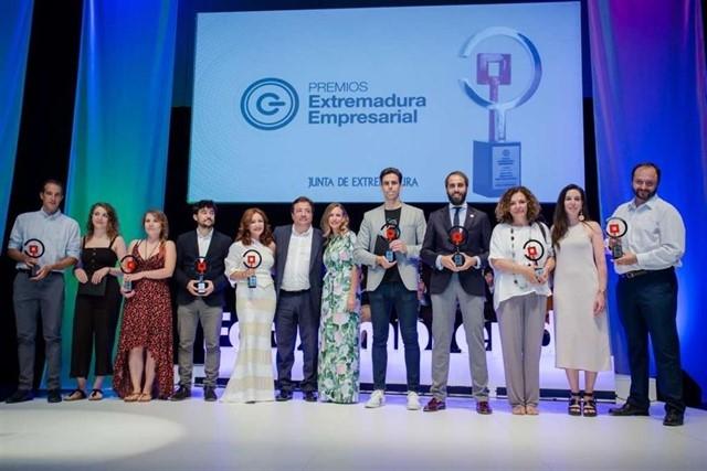 Germán Gómez, de Medina de las Torres, triunfa en los I Premios Extremadura Empresarial