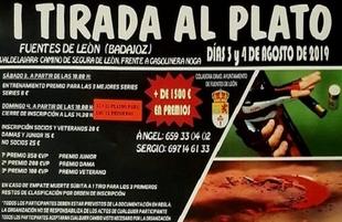 Más de 1.500 euros en premios en la `I Tirada al Plato´ de Fuentes de León