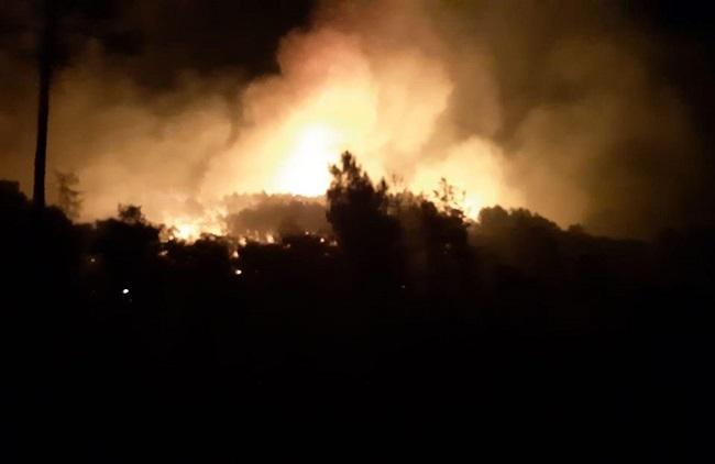 Estabilizado el incendio que asola el Paraje de las Pelas en Monesterio