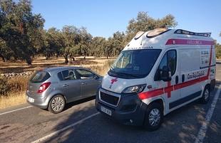 Accidente de tráfico con herido en la carretera que une Bodonal y Fregenal de la Sierra