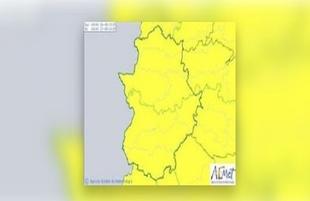 Se amplía la alerta amarilla por lluvias y tormentas en toda la región hasta la medianoche de hoy lunes