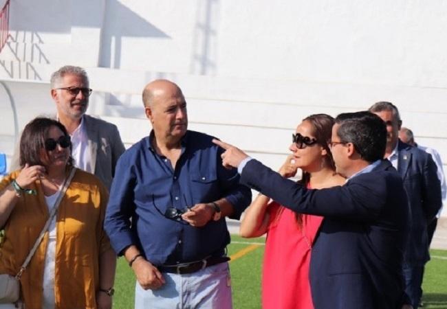 El presidente de la Diputación de Badajoz visita varias obras en Segura de León