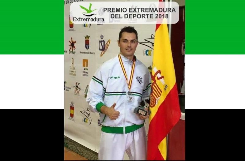 El karateca de Higuera la Real, Manuel Rasero, nombrado Premio Extremadura del Deporte 2018