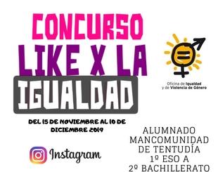 La Mancomunidad abre el concurso `Like por la Igualdad´ para el alumnado de ESO y Bachillerato de Tentudía