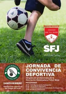 El colegio San Francisco Javier de Fuente de Cantos acoge el domingo la jornada deportiva de Extremadura Fútbol Base