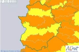 El 112 activará este jueves en la comarca de Tentudía la alerta naranja por vientos y amarilla por lluvias