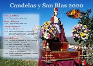Candelas y San Blas 2020 en Montemolín