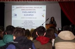Alumnos del IES Maestro Juan Calero de Monesterio participaron en el Programa Escuelas Embajadoras del Parlamento Europeo
