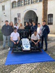 El Equipo Arus de la Universidad de Sevilla presentó su coche de competición en Fuente de Cantos