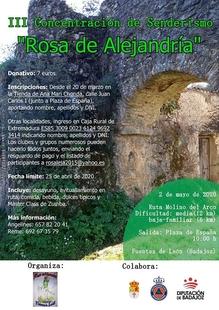 Fuentes de León celebrará la III Concentración Senderista `Rosa de Alejandría´ en mayo