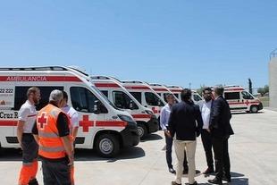 Cruz Roja de Monesterio, Fuente de Cantos y Fregenal de la Sierra establecen rutas regionales
