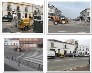 El Ayuntamiento de Monesterio desinfecta sus calles y pide sensatez y calma a sus vecinos ante la situación complicada
