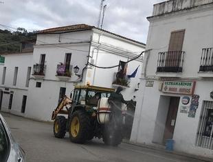 Mañana viernes volverán las tareas de desinfección de calles y mobiliario urbano en Cabeza la Vaca