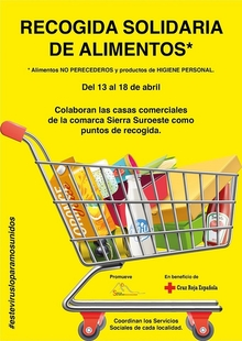 Establecimientos de Higuera la Real promueven la recogida de alimentos para Cruz Roja Española