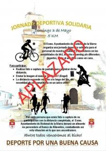 Aplazada la Jornada Deportiva Solidaria convocada para el domingo en Bodonal
