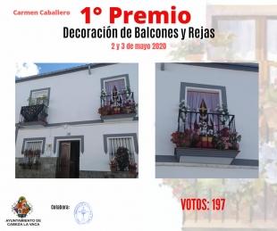 Ganadoras del concurso `Decoración de balcones y rejas´ en Cabeza la Vaca