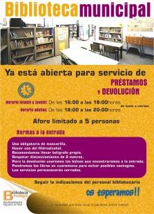La Biblioteca de Higuera la Real abre sus puertas para préstamos y devoluciones de libros