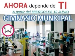 Mañana miércoles, 10 de junio, reabre el Gimnasio Municipal de Cabeza la Vaca