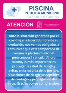 Fuente de Cantos no abrirá su piscina municipal este verano