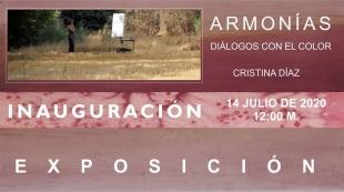 Esta mañana se inaugura la exposición ARMONÍAS `Diálogos con el color´ de Cristina Díaz en Fuente de Cantos