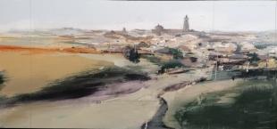 Jaime Jurado Cordón ganador del XXII Concurso de Pintura rápida al aire libre `Nicolás Megías´ en Fuente de Cantos