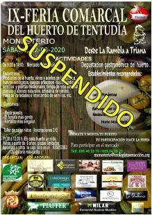 Suspendida la IX Feria Comarcal del Huerto de Tentudía