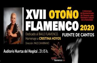 Conocida la programación para el XVII Otoño Flamenco 2020 en Fuente de Cantos