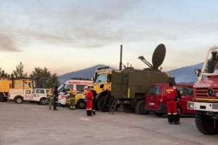 Dos equipos de la base Infoex de Monesterio han participado en la extinción del incendio de La Vera