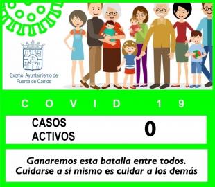 Sin casos activos por covid-19 en Fuente de Cantos