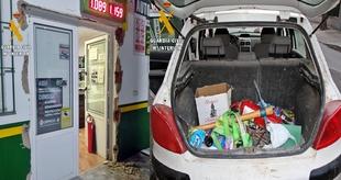 La Guardia Civil detiene a uno de los autores del robo en la estación de servicios de Pallares