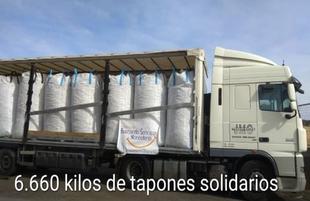 `Buscando Sonrisas Monesterio´ recicla 6,6 toneladas de tapones de plástico para fines solidarios