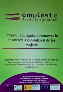El Instituto de la Mujer pone en marcha en Monesterio el programa `Empléate desde la Igualdad´